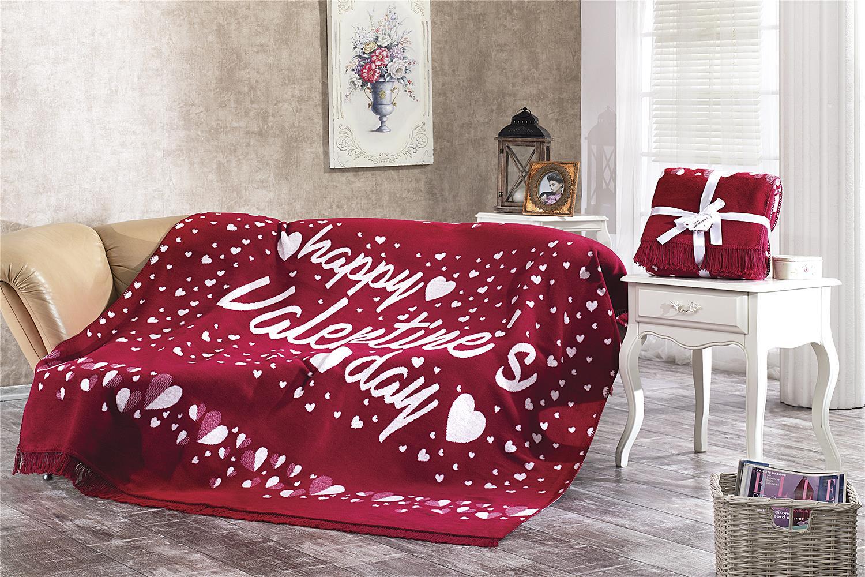 Dolce Bonita Home Tek Kişilik Pamuklu Battaniye Happy Valentines Day