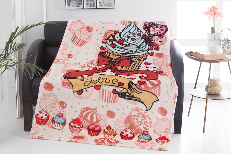 Dolce Bonita Home Wellsoft 3D Battaniye 100x170 Cupcake
